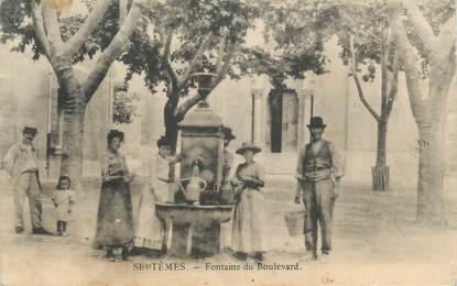 """CPA FRANCE 13 """"Septêmes, Fontaine du Bld"""""""
