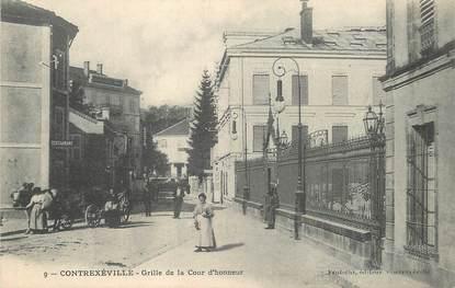 """CPA FRANCE 88 """"Contrexéville, grille de la cour d'Honneur"""""""