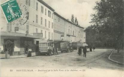 """CPA FRANCE 26 """"Montélimar, bld de la Salle Verte et les autobus"""""""