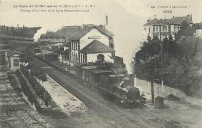 """CPA FRANCE 42 """"La Gare de Saint Bonnet le Chateau"""" / TRAIN"""