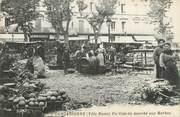 """11 Aude CPA FRANCE 11 """"Carcassonne, le marché aux Herbes"""""""