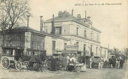 "CPA FRANCE 89 ""Sens, la gare"""