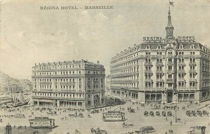 "CPA FRANCE 13 ""Marseille, Régina Hotel"" / TRAMWAY"