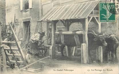 """CPA FRANCE 15 """"Le Cantal pittoresque, le Ferrage des Boeufs"""""""