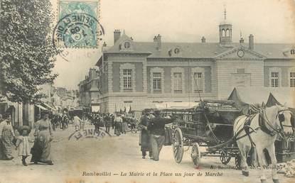 Cpa france 78 rambouillet la mairie et la place un jour for Agrandissement maison houilles