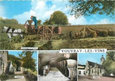 """CPSM FRANCE 37 """" Vouvray les Vins """" / VENDANGES"""