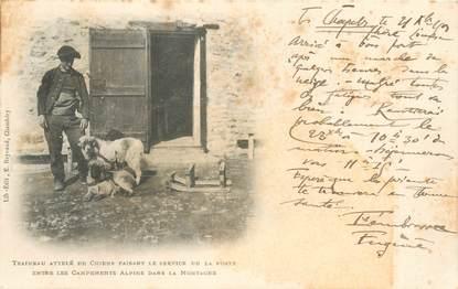 """CPA FRANCE 73 """"Traineau attelé de chiens faisant le service de la poste"""""""