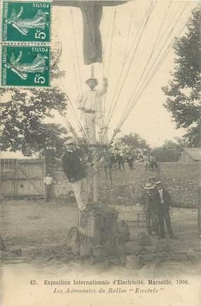 """CPA FRANCE 13 """"Marseille, Exposition Internationale d'Electricité, 1908 """" / BALLON"""