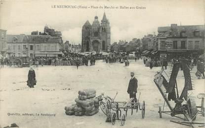 """CPA FRANCE 27 """" Le Neubourg, place du marché, halles au grains """""""