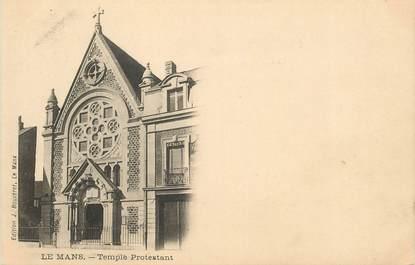 "CPA FRANCE 72 ""Le Mans, temple protestant"""