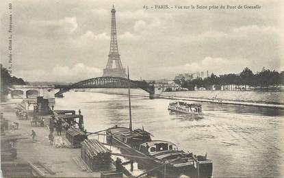 """CPA FRANCE 75007 """"Paris, vue sur la seine prise du pont de Grenelle"""""""