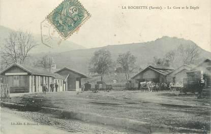 """CPA FRANCE 73 """"La Rochette, la gare"""""""