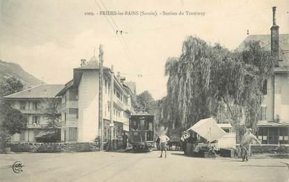 """CPA FRANCE 73 """"Brides les Bains, le tramway"""""""