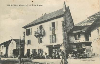 "CPA FRANCE 73 ""Serrières, Hotel Gifuet"""
