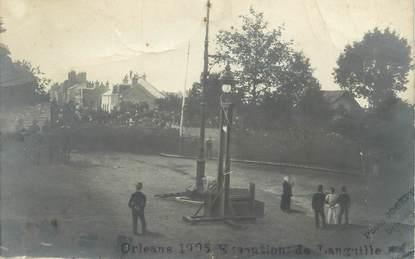 """CARTE PHOTO FRANCE 45 """"Orléans, 1905, Exécution capitale de l'Anguille"""" / GUILLOTINE"""