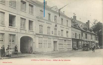 "CPA FRANCE 27 ""Lyons la Foret, Hotel de la Licorne"""