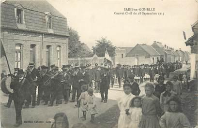 """CPA FRANCE 62 """"Sains en Gohelle, convoi civil du 28 septembre 1913"""""""