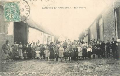 "CPA FRANCE 80 ""Lamotte en Santerre, rue Neuve"""