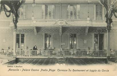 """CPA """"Marseille, Palace Casino Prado Plage, Terrasse du Restaurant"""""""