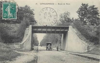 """CPA FRANCE 91 """"Longjumeau, rte de Paris"""""""