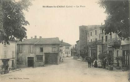 """CPA FRANCE 42 """" Saint Haon le Châtel, la place """""""