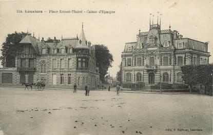 """CPA FRANCE 27 """" Louviers, place Ernest Thorel, banque, caisse d'Epargne """""""