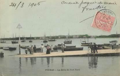 """CPA FRANCE 17 """" Fourras, la jetée """""""