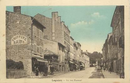 """CPA FRANCE 01 """" Lagnieu, la rue Pasteur """" / coiffeur"""