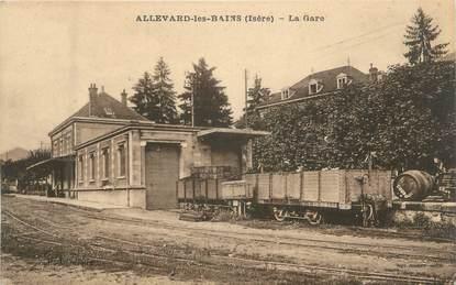 """CPA FRANCE 38 """" Allevard , la gare """""""