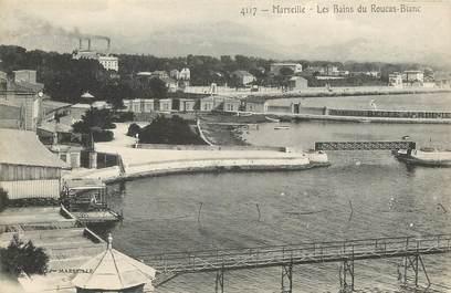 """CPA  """"Marseille, Les Bains du Roucas Blanc"""""""