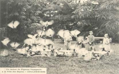 """CPA FRANCE 77 """"Coulommiers, lacher de pigeons voyageurs"""""""