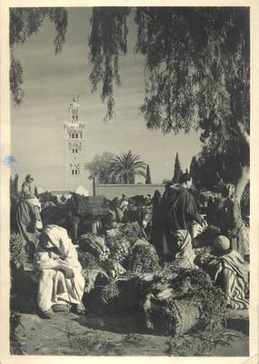 """CPSM / PHOTO LE MAROC ARTISTIQUE / Ed. ART MAROC """"Marrakech, le souk aux légumes"""""""