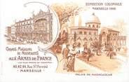 """13 Bouch Du Rhone CPA FRANCE 13 """"Marseille, Exposition coloniale 1906, Palais de Madagascar"""""""