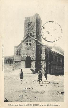 """CPA ALGERIE """"Eglise Notre Dame de Montgolfier"""""""