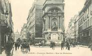 """75 Pari CPA FRANCE 75002 Paris, Fontaine Molière, rue de Richelieu"""""""