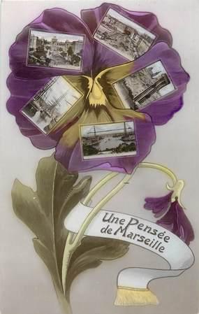 """CPA FRANCE 13 """"Une pensée de Marseille"""""""
