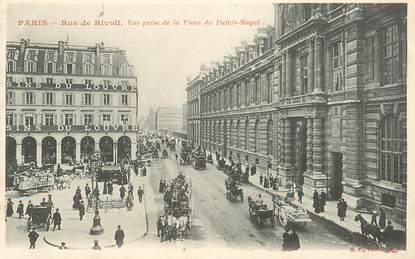 """CPA FRANCE 75002 Paris, rue de Rivoli, vue prise de la Place du palais royal"""""""
