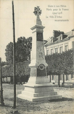 "CPA FRANCE 14 "" Orbec, Monuments aux morts """