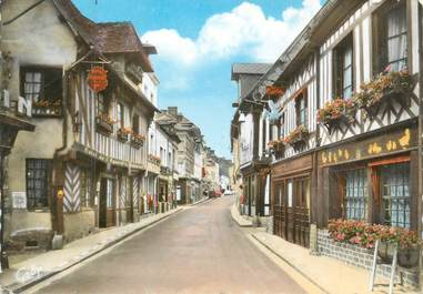 """CPSM FRANCE 14 """" Orbec, Hôtel de l'Equerre, rue Grande """""""
