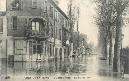 """CPA FRANCE 92 """" Courbevoie """" / INONDATIONS 1910"""