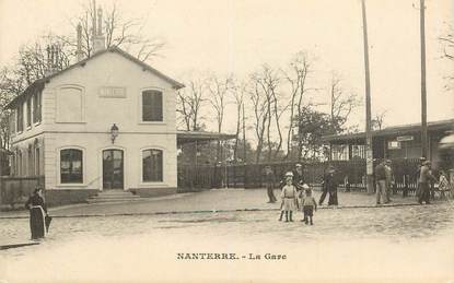 """CPA FRANCE 92 """"Nanterre, la gare"""""""