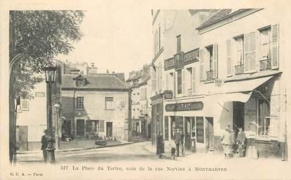 """CPA FRANCE 75018 """"Paris, La Place du tertre, coin de la rue Norvins à Montmartre"""""""