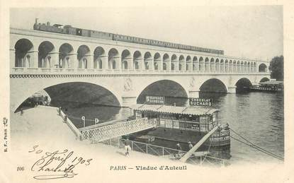 """CPA FRANCE 75016 """"Paris, viaduc d'Auteuil"""""""