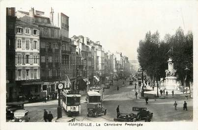 """CPSM  """"Marseille, la Canebière prolongée"""""""