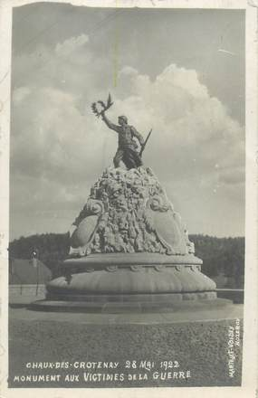 """CARTE PHOTO FRANCE 39 """"Chaux des Crotenay, monument aux victimes de la guerre"""""""
