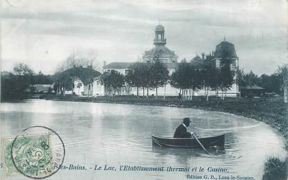 """CPA FRANCE 39 """"Lons Le Saunier, le lac, l'établissement thermal et le casino"""""""