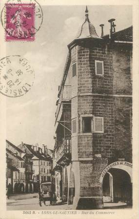 """CPA FRANCE 39 """"Lons Le Saunier, rue du commerce"""""""