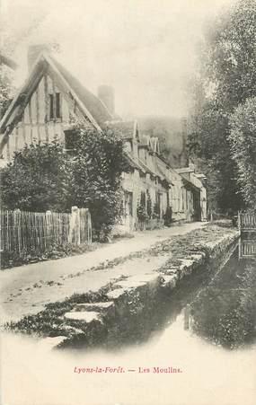 """CPA FRANCE 27 """"Lyons la Foret, les Moulins"""""""