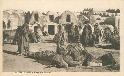 "CPA TUNISIE ""Médenine, place du Cafard"""