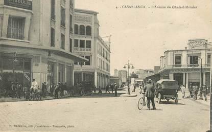 "CPA MAROC ""Casablanca, l'avenue du Gal Moinier"""